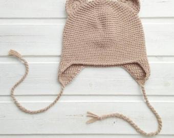 Newborn Bear Hat Baby Bear Hat Crochet Bear Hat Infant Bear Hat Crochet Baby Hat Knit Bear Hat Baby Hat With Ears Bear Photo Prop