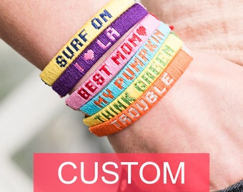 CLASSIC Personalized friendship bracelets with names / Best friend gift with meaning / Custom BFF bracelets for men and women / Handmade
