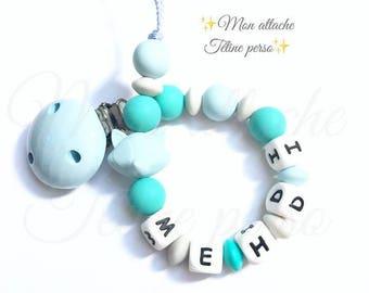 "Custom Silicone pacifier ~ blue Rrenard ""Maria"""