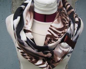 Modern Scarf - Trendy Scarf - Fashion Scarf - Summer Scarf - Animal Print Infinity Scarf - Designer Scarf - Women's Scarves - Trendy Scarves