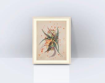 Framed Painting, Native Art, Contemporary Art, Modern Art, Acrylic Painting, Africa Art, Original Art, Wall Decor, One of a Kind Painting