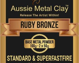 Aussie Metal Clay SuperFlex Ruby Bronze 100 grams / Flexable Bronze Metal Clay /