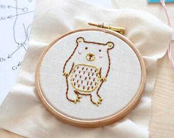 EMBROIDERY KIT - Little bear