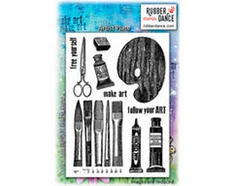 Art Stamp, Artist Plate, Rubber Dance Stamps, Rubber Stamp