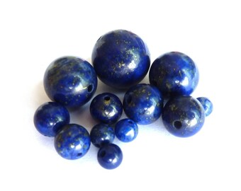 Lapiz lazuli Ø 10 mm PCH0150 bead has individually gemstone gemstone semi precious