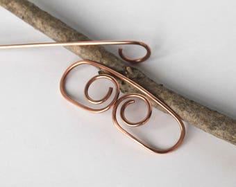 Copper Hair Clip Hair Stick Metal Hair Slide Hammered Hair Barrette Bobby Pin Copper Jwewlry Hair Holder Hair Accessories Women Gift for Her