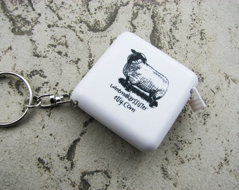 Sheep Tape Measure with Key Ring/Chain - FREE SHIPPING for this item when purchased with any other item