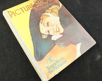 Vintage PICTURE SHOW ANNUAL Hardback Book Dated 1938