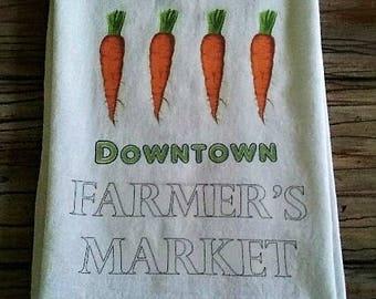 Farmer's Market Flour Sack Towel