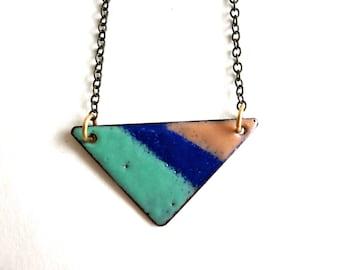 Enamel Triangle Necklace