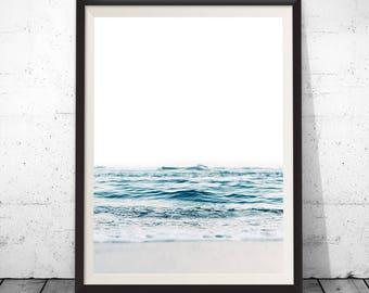 Ocean Print, Sea Photography, Ocean Water Wall Art, Ocean Print, Beach Decor, Printable Download, Modern Coastal Decor, Wall Decor