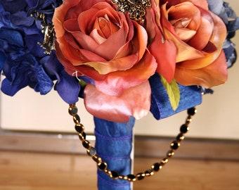 Blue Midnight Brooch Bouquet