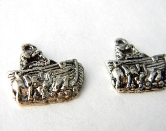 Noah's Ark Charms Set of Two Silver Color 20x20mm