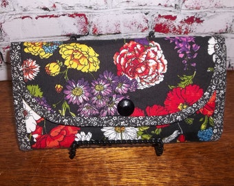 Handmade Multi-Color Floral Fabric Wallet