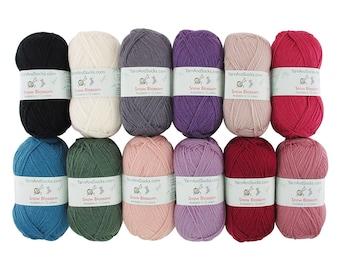 Snow Blossom Wool Yarn 2 x 100 gram Skeins