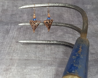 Handcrafted Copper Filigree triangles
