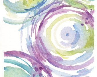 Abstract Circles - Blue and Purple
