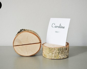 70 PIECES - Wedding place card holder - rustic wedding decor - name card holder - wooden card holder - birch tree card holder - eco friendly