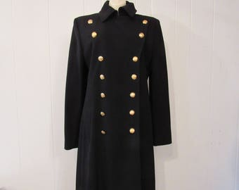 Vintage coat, Ralph lauren coat, double breasted coat, military coat, vintage clothing, large