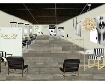 Beauty Salon Decor | Interior Design | Customized For Your Salon | Salon Decor
