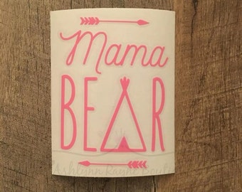 Decal  Mama Bear  Car Decal  Mama Bear Decal  Yeti  Mom  Mom Decal  Mom Car Decal