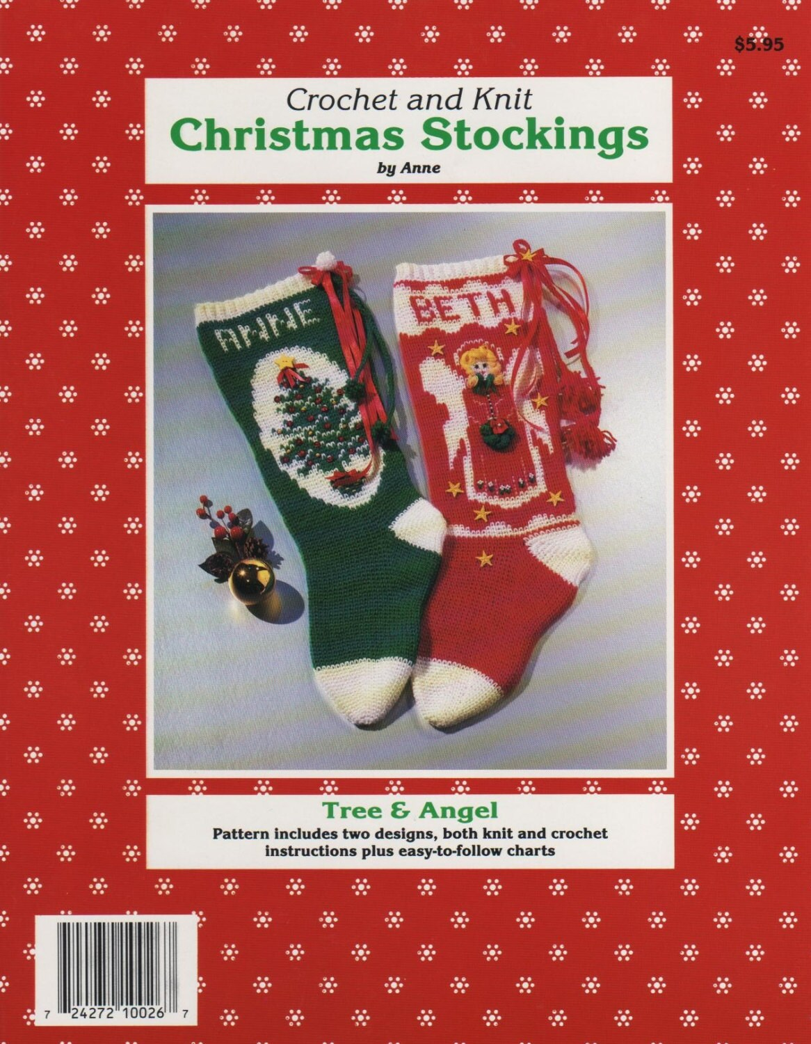 Pdf Pattern. 4 Christmas Stocking Patterns To KNIT an CROCHET Tree ...