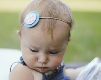 Cute as a button headband