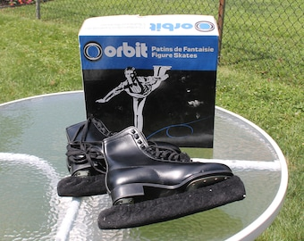 Men's Ice Skates - Black Figure Skates - Size 8 - Orbit Skates