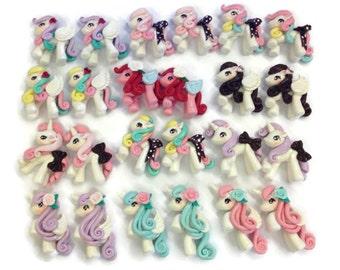 24pcs Unicorn Cabochon - Little Pony Clay work SAVE 10%