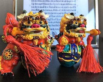 Foo Dog Figurine  Pair of Guardians for the home