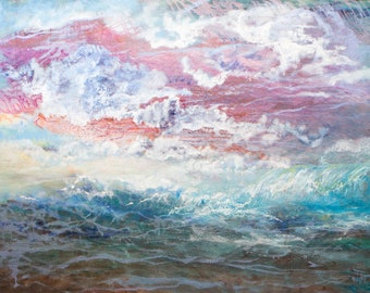 Wave of Life Original Oil Painting