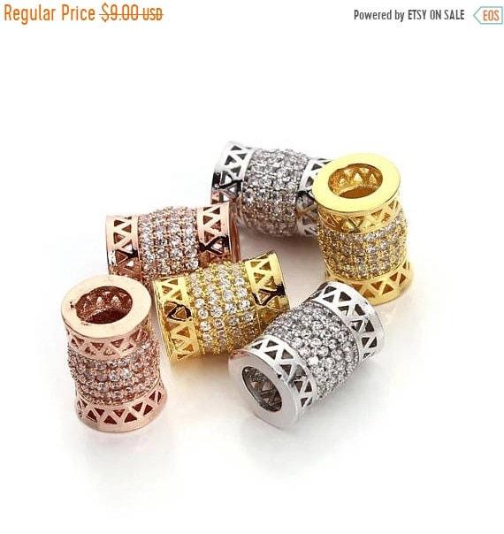 MEGA SALE Dreadlock Beads Rose Gold Beads 2pcs Dread Beads for