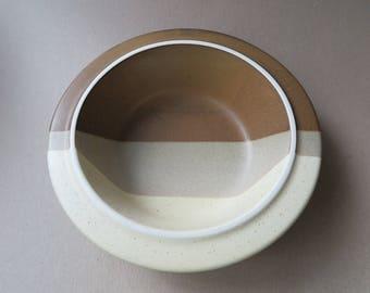 Jim McBride Stoneware Serving Bowl.  Agate Pass Design for Fabrik.  Vintage. 1970's.