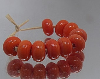 Summer Coral, Lampwork Spacer Beads, SRA, UK