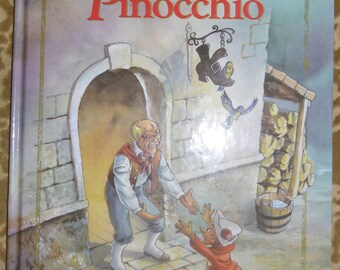 Vintage Childrens Book - Pinocchio, Tormont Publications 1995, Illustrations by Zapp Graphic Design
