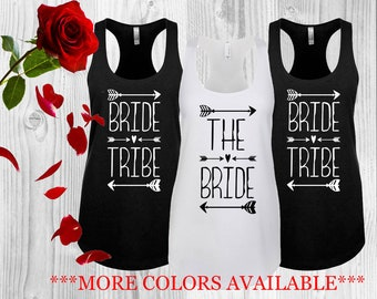 Bride Tribe Set, Tank Top Set, Bachelorette Top Set, Bride Shirt Set, Bridesmaid Tank Set, Bridal Tank Top Set, Bride Tribe Tank Top