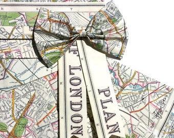 "LONDON Map Dress - CUSTOM Hand-Folded Map Dress - 18"" x 24"" - Choose your Style! - Nursery Wall Decor Art"