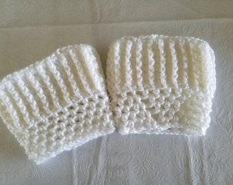 White Boot Cuffs