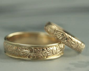 Matching wedding bands Etsy