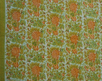 """Cotton Fabric, Crafting Supplies, White Fabric, Floral Print Fabric, Handmade, 45"""" Inch Floral Fabric By The Yard ZBC8597A"""