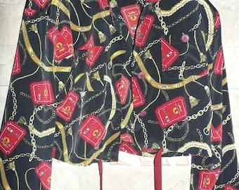 Interesting Women's blouse, blazer with a short waist, tied short waist