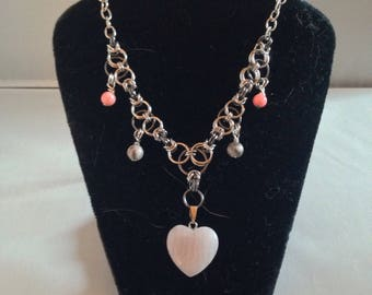 Heart of Rose Necklace