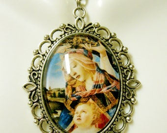 Madonna and child pendant and chain - AP09-173