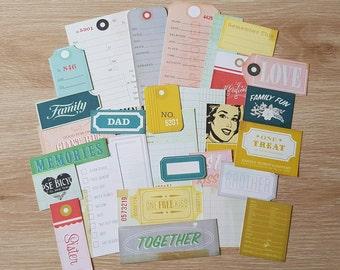 Crate Paper Cut-apart Ephemera Pack 30pcs