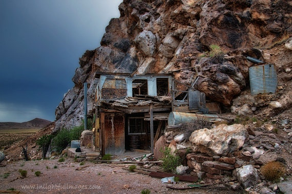 7 Amazing Houses Built Into Nature: Items Similar To Abandoned House Built Into Mountain Wall