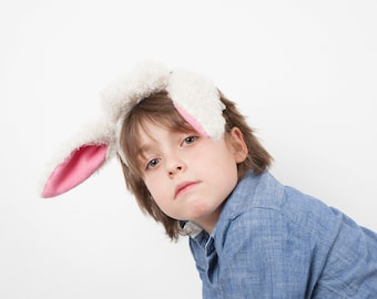 Sheep Ears Headband, Lamb Ears, Children's or Adult's Photo Prop, Sheep Costume, Pretend Play