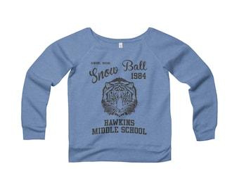 Stranger Things Shirt  Hawkins Middle School Snowball 1984 Sweatshirt