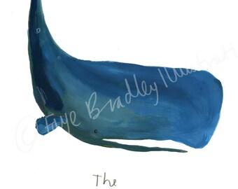 Sperm Whale Limited Edition Illustration print by Faye Bradley