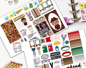 Horror Movies Theme Planner Weekly Sticker SMALL Kit, CLASSIC Happy Planner Sticker, Weekly Set, Stickers, Printed, Cut, Freddie, Elm Street