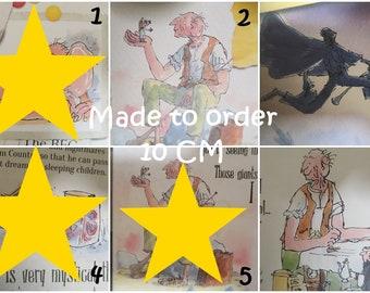 Roald Dahl characters wooden plaques | kids decor gift children nursery | cute bedroom | booklover classic literature birthday BFG